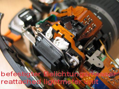 reparierter Belichtungsmesser - Reattached lightmeter